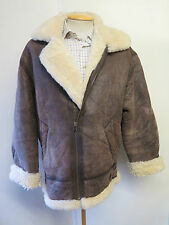 Vintage B3 Real Shearling Sheepskin Bomber Aviator Leather Jacket S  36-40""