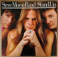 Steve Morse Band Stand Up 1985 USA SIGNED LP AUTOGRAPH