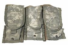 LOT 3 ARMY MILITARY SURPLUS MOLLE ACU DOUBLE MAG AMMO POUCH 8465-01-525-0606 VG