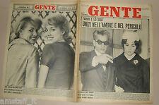 GENTE 1961/9=FARAH DIBA=REZA PAHLAVI=KESSLER=MILVA=ANNA MARIA FERRERO JEAN SOREL