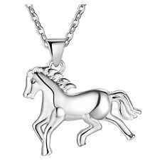 Fashion 925 silver jewelry Exquisite gift Personality horse necklace Female