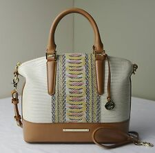Brahmin Yellow Canyon Lizard Python Duxbury Satchel Shoulder Bag