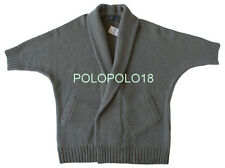 New $298 Polo Ralph Lauren Women Wool Cashmere Cardigan Sweater Italy S M L XL