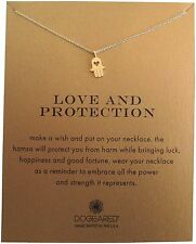 """Dogeared Love And Protection Heart Hamsa Reminder 16"""" Boxed Necklace"""