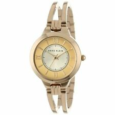 Anne Klein Women's AK/1440CHGB Everyday Classics Gold-Tone Open Bangle Watch