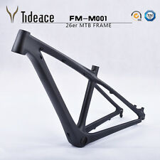 "14"" 26er Carbon Mountain Bicycle Frameset 3k Matte Mtb Bike Frame BB92"