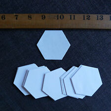 "1 1/4"" Hexagon Templates - English Paper Piecing Quilting / Patchwork   x 75"