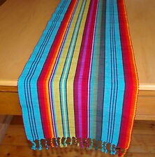 "TABLE RUNNER - BRIGHT VIBRANT MEXICAN LOOK 'MADAGASCAR"" 180CM LONG"