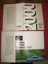 N°4243 / FIAT : catalogue berline 2000    environ 1978