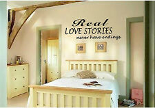 Real Love Stories Never Vinyl Wall Art Lettering Sticky