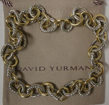David Yurman Necklace Oval Link 18k Sterling Silver 925 Two Tone Jewelry Gift