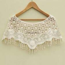Boho Women Hollow Out Crochet Lace Tank Tops Tee Shirt Vest Cape Waistcoat Sexy