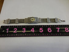 GENEVA ELITE Ladies/Womens Watch w/Beautiful Engraved Style Band - Needs Battery