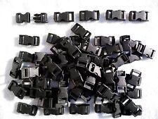 50 Negro Plástico Hebilla Lateral 10mm-Fijaciones, Correas, Paracord etc.