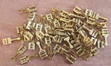 50x Brass Spade Electrical Connectors 16-18SWG 15-30A Lucar Faston OG VW Porsche