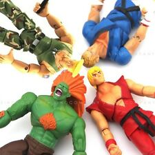 SET 4 STREET FIGHTER BLANKA KEN ABEL GUILE 4 INCHES ACTION FIGURE TOY GAME