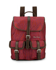 "Robert Graham Men's NWT ""Stellen"" Leather & Paisely Fabric Backpack Retail $298."