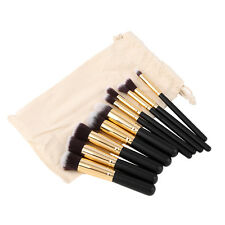 10pcs Makeup Brushes Set Cosmetic Eyeshadow Face Powder Foundation Lip Brush Pro