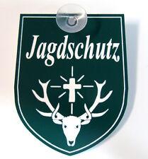 Jagdschutz,Jäger,Jagd,Jagen,Hunter,m. Sauger,9 x 7 cm,Gravurschild,St.Hubertus