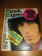 Musik Express Oktober '72 Wings David Bowie Rod Stewart Alice Cooper Slade rar!