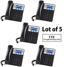 LOT of 5 Grandstream GXP1620 2-Line HD Small-Med Biz SIP IP Phone
