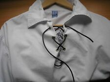 GENTS' SCOTTISH DELUXE EMBROIDERED GHILLIE SHIRT - WHITE -SIZE L GOOD CONDITION!