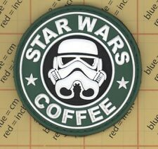 GREEN STAR WARS COFFEE TACTICAL ARMY MORALE AIRSOFT 3D PVC RUBBER VELCRO PATCH