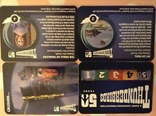 THUNDERBIRDS 50TH ANNIVERSARY: PRINTERS PROOF CARDS: COMPLETE BASE CARD SET