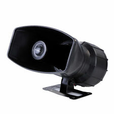 12V Loud Horn Car Van Auto 5 Sound Tone Amplifier Speaker With PA System 300db