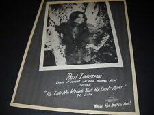 PATTI DAHLSTROM sassy 1974 PROMO POSTER AD ...she does it right MINT CONDITION