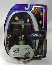Star Trek NEMESIS Commander RIKER & Counselor TROI action figure set Art Asylum