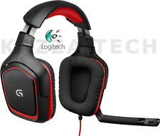 Logitech G230 PC Gaming Black 3.5mm Stereo Sound Swivel Headset & Folding Mic