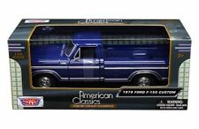 MOTORMAX 1979 FORD F-150 PICKUP TRUCK BLUE 1/24 DIECAST MODEL CAR 79346
