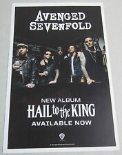 "Avenged Sevenfold - Hail To The King * 2 Sided Promo Poster * 11"" x 17""  limited"