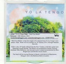 (DK700) Yo La Tengo, Well You Better - 2013 DJ CD