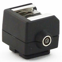 Hot Shoe Flash Adapter PSS02 with PC sync Socket for Nikon Canon Pentax