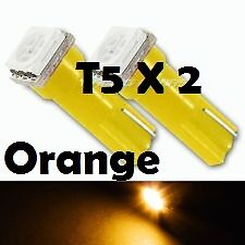2 X T5 Super Orange SMD LED Side Wedge Park Bulb T5 T6.5 74 37  ....