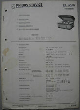 PHILIPS el3536 REGISTRATORE Service Manual, edizione 02/60