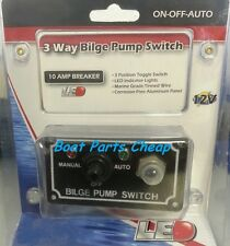 New Boat Marine Bilge Pump Toggle Switch Panel Auto Manual On-Off-On