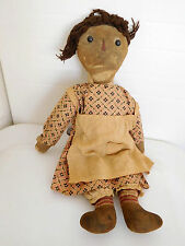 """Antique Volland 16"""" Raggedy Ann in All Original Clothes, Stamped & Heart"""