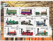 Mongolia - Trains, 2000 - Sc 2443 Sheetlet of 9 MNH