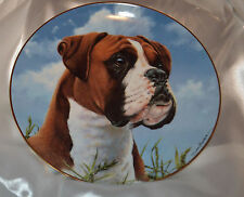 Danbury Mint - His Master's Call Boxer Collection B5608 Collector Plate Dog