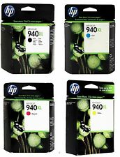 Genuine HP 940XL Black & Color Toner Set of 4 C4906AN C4907AN C4908AN C4909AN