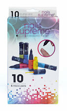 Nails Supreme Nail Art - Pack of 10 Pens Matt