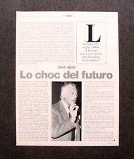 [GCG] AR44 - Clipping-Ritaglio -1984- LO CHOC DEL FUTURO , GIANNI AGNELLI