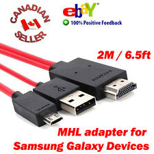 MHL Micro USB to HDMI Cable Adapter for Samsung Galaxy S5 S3 Note 2 3 4 EDGE RED