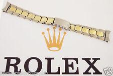ROLEX OYSTER ARMBAND STAHL / 14ct GOLD GENIETET 1960er - 7205 51 - 17mm BRACELET