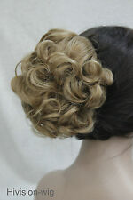 22 colors Short Curly Wavy claw clip ponytail hair pieces wig #E-945B