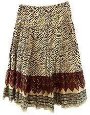 Lauren Ralph Lauren NEW Brown Women's Medium M Mixed Print Full Skirt $119 #235