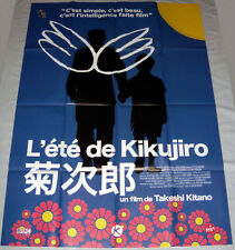 "KiKUJiRO 菊次郎の夏 Takeshi Kitano Japan Yakuza LARGE French POSTER reissue ""BLUE"""